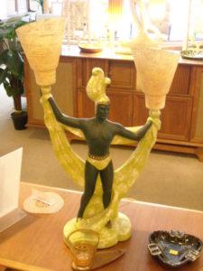 Tiki Lamps, Pair