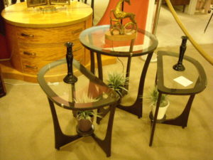 3-PC. ART DECO TABLES