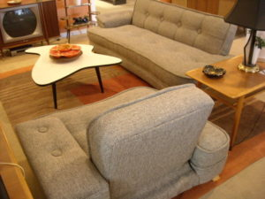 SOLD - Dogbone sofa & chair