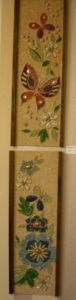 SOLD Floral rock art pair